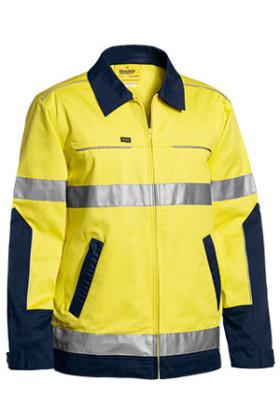 3M Taped Two Tone Hi Vis Liquid Repellent Cotton Drill Jacket