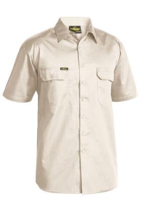 Cool Lightweight Mens Short Sleeve Drill Shirt