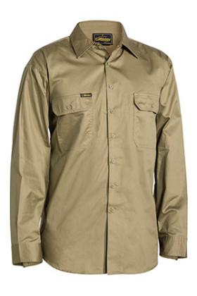 Cool Lightweight Mens Long Sleeve Drill Shirt