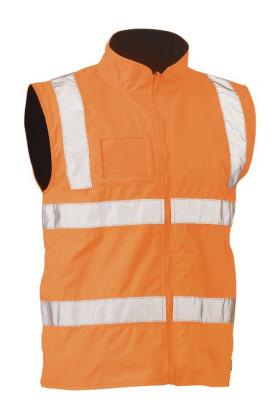 Taped Hi Vis Rail Wet Weather Vest