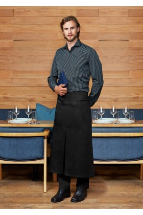 Continental Style Full Length Apron (Black)