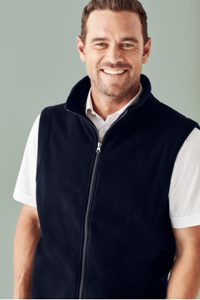 Plain Micro Fleece Mens Vest