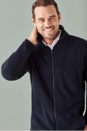 Plain Micro Fleece Mens Jacket