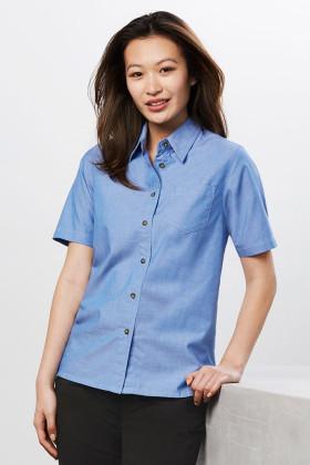 Chambray Ladies S/S Shirt