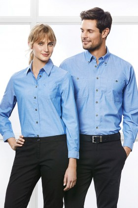 Chambray Ladies L/S Shirt