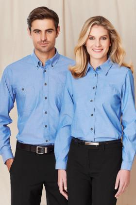 Chambray Mens L/S Shirt