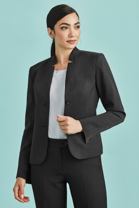 Short Jacket with Reverse Lapel (Poly/Bamboo)