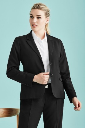 Mid Length Ladies 2 Button Jacket (Poly/Bamboo)