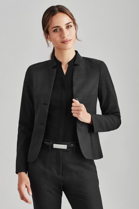 Short Jacket with Reverse Lapel (Poly/Wool)
