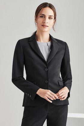 Mid Length Ladies 2 Button Jacket (Poly/Wool)