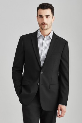 Slimline Mens Two Button Jacket (Poly/Wool)