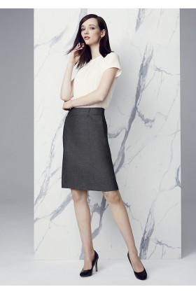 Panelled Skirt with Rear Split