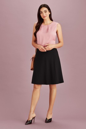 Bandless Ladies Flared Skirt
