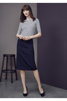 Relaxed Fit Lined Skirt (Poly/Wool)