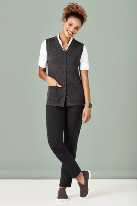 Button Front Ladies Knit Vest