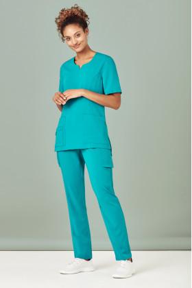 Poly Slim Leg Scrubs Ladies Pant (5 Colours)