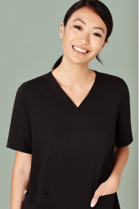 Poly Easy Fit V-Neck Scrubs Ladies Top (5 Colours)