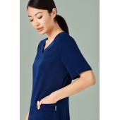 Poly Tailored Fit Round Neck Scrubs Ladies Top (5 Colours)