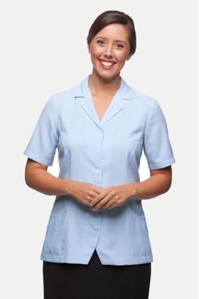 Ezylin Dual Pocket Stripe Ladies S/S Overblouse