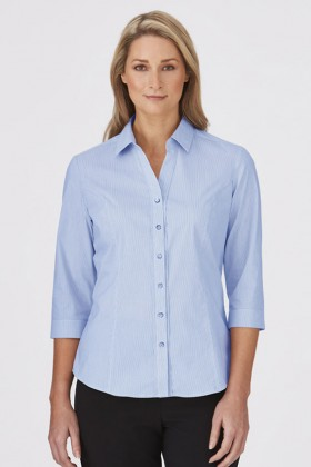 City Stretch Pinfeather Ladies 3/4 Shirt