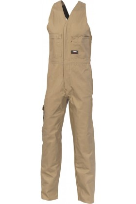 Action Back Cotton Drill Overalls