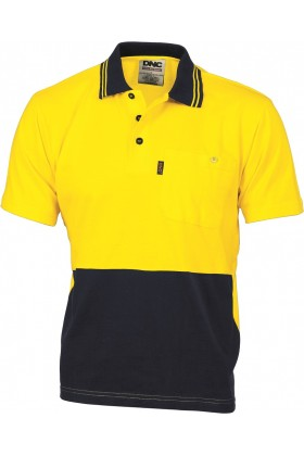 Hi-Vis Cool Cotton Vented Short Sleeve Polo Top