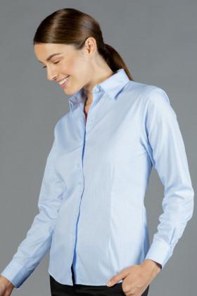 Bell Textured Mini Check Ladies L/S Shirt
