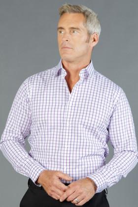 Bourke Oxford Check Mens L/S Shirt