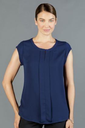 Mackenzie Ladies Box Pleat Soft Knit Top