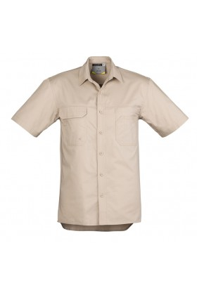 Light Weight Mens Tradie Shirt - Short Sleeve