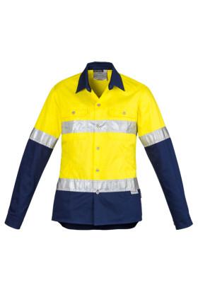 Hi Vis Spliced Industrial Ladies Shirt - Hoop Taped