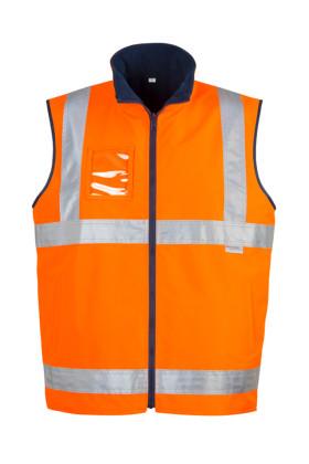 Hi Vis Lightweight Fleece Lined Mens Vest
